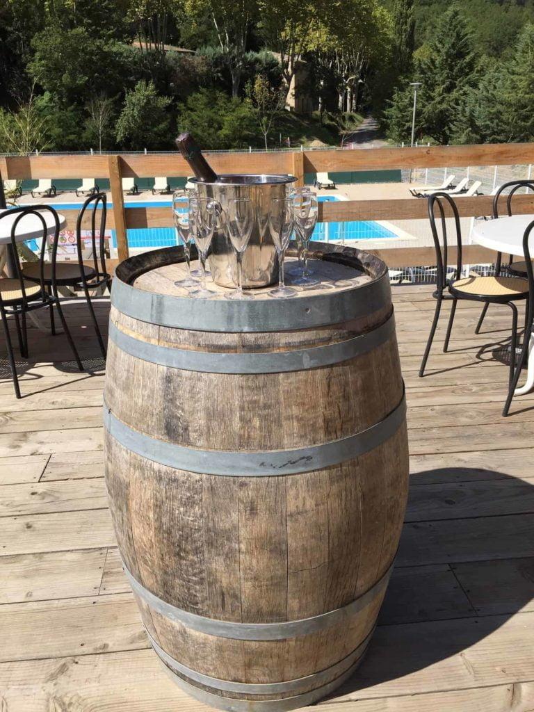 Restaurant bar camping Rennes-les-Bains vignobles